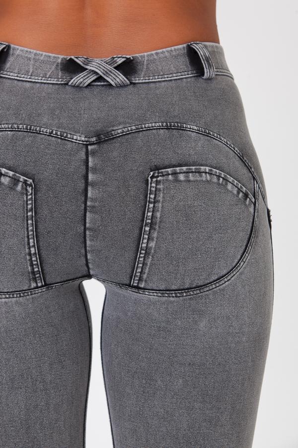 Boost Jeans Mid Waist Grey - 5