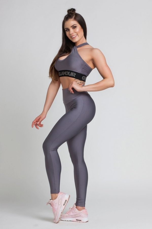 Gym Glamour Legíny High Waist Granite, M - 5