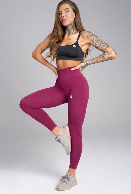 Gym Glamour Legíny Bezšvíkové Jelly Berry, XS - 5
