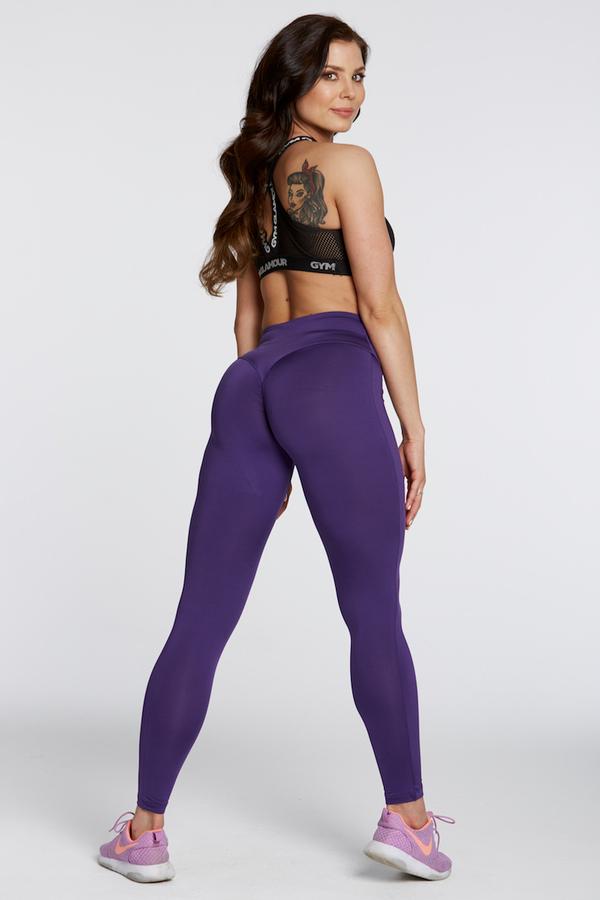 Gym Glamour Legíny High Waist Violet, M - 5