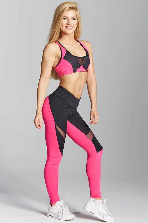 Gym Glamour Legíny Pink Fluo, L - 5