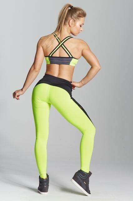 Gym Glamour Legíny Green Fluo, M - 5