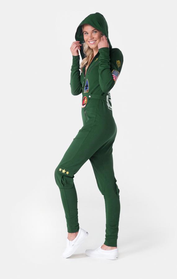 OnePiece Aviator Onesie Jungle Green, XL - 5