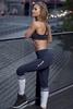 Gym Glamour Legíny Blue Melange & Socks, XS - 6/7