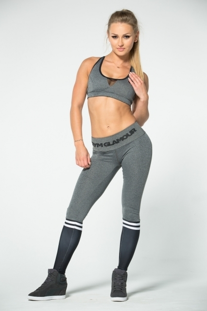 Gym Glamour Legíny Grey & Black Socks, M - 6