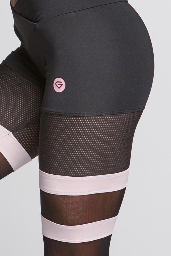 Gym Glamour Legíny Mesh And Pink Socks, XS - 6