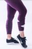 Nebbia 639 Asymmetrical 7/8 Leggings Burgundy - 6/6