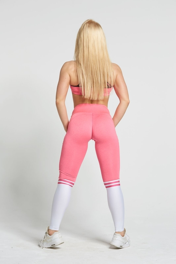 Gym Glamour Legíny Pink & White Socks, M - 6