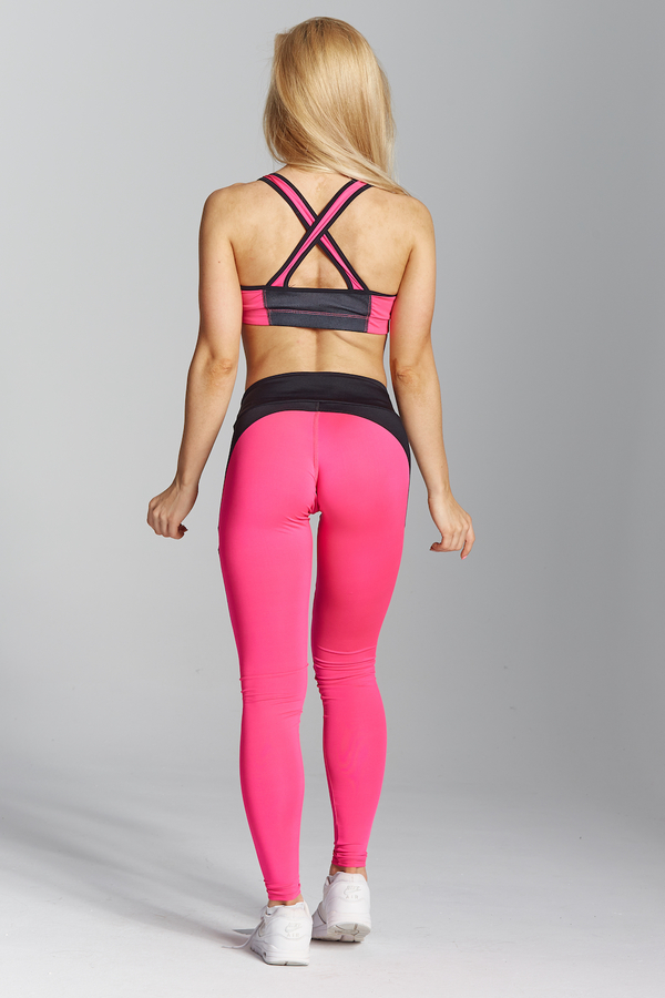 Gym Glamour Legíny Pink Fluo, L - 6