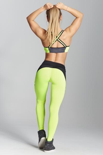 Gym Glamour Legíny Green Fluo, M - 6