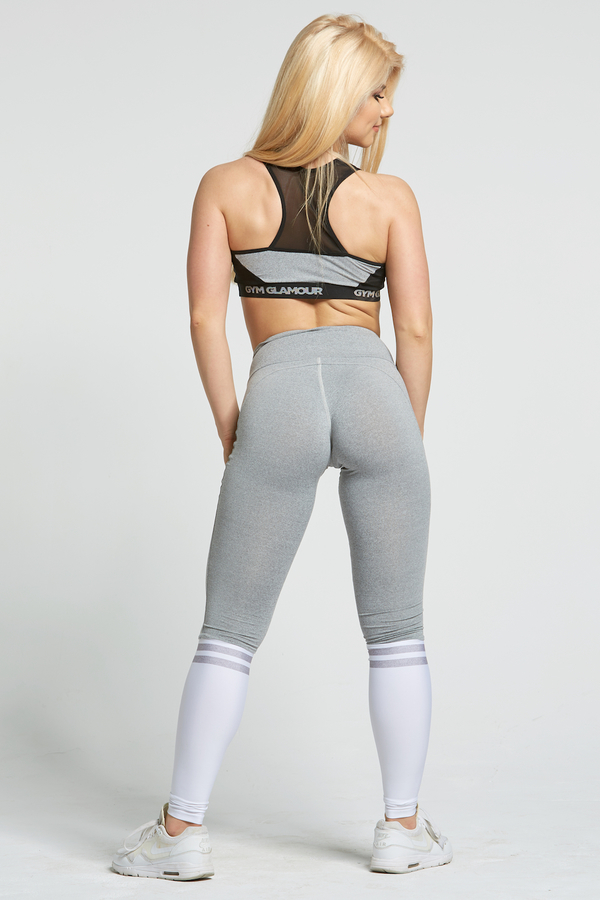 Gym Glamour Legíny Grey & White Socks, XS - 7